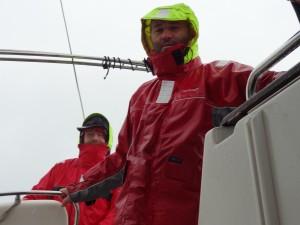 Navigation sous la pluie